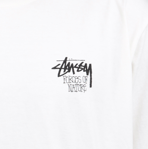 Stussy футболка Stussy Forces of Nature white tee