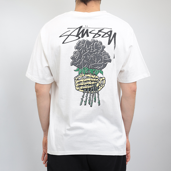 Stussy футболка Stussy Bouquet dyed white tee