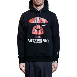 Aape by A Bathing Ape Худи Aape by A Bathing Ape x One Piece Scar черный