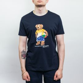 Ralph Lauren Polo Beach Bear Navy Tee
