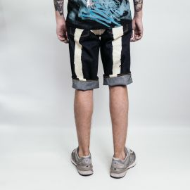 Evisu шорты Milk Daicock Printed Denim