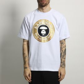 футболка AAPE Gold White