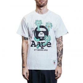 Aape by A Bathing Ape Футболка Aape by A Bathing Ape x Steven Harrington Palm белая
