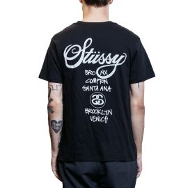 Stussy Футболка Stussy World Tour черная