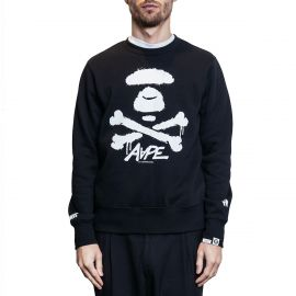 Aape by A Bathing Ape Свитшот Пуховик AAPE by A Bathing Ape Bones