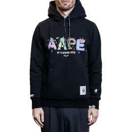 Aape by A Bathing Ape Худи Aape by A Bathing Ape x Steven Harrington Letter черный