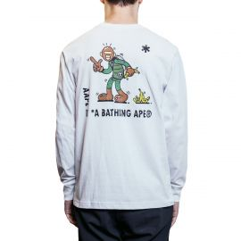 Aape by A Bathing Ape Лонгслив Aape by A Bathing Ape x Steven Harrington Banana белый