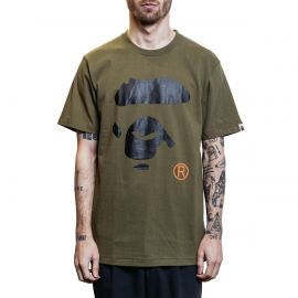 A Bathing Ape Футболка Bape Big Ape Head Khaki