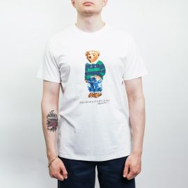 Ralph Lauren Polo Regby Bear White Tee