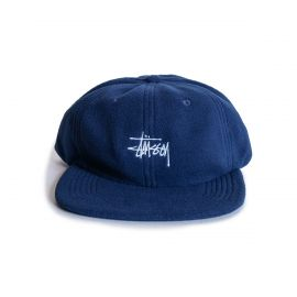 Stussy Кепка STUSSY SMOOTH STOCK POLAR FLEECE CAP флисовая синяя