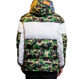 A Bathing Ape Пуховик, A Bathing Ape x Adidas Originals Down Jacket