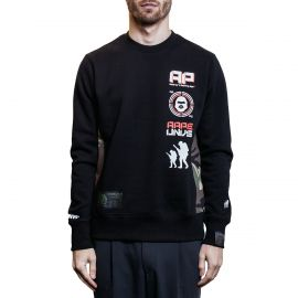 Aape by A Bathing Ape Свитшот Aape by A Bathing Ape Multi Logo черный