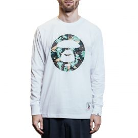 Aape by A Bathing Ape Лонгслив Aape by A Bathing Ape x Steven Harrington Palm белый