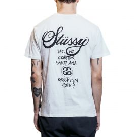 Stussy Футболка Stussy World Tour белая