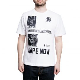 Aape by A Bathing Ape Футболка белая AAPE UNVS
