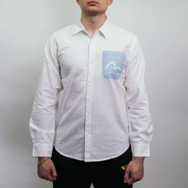 Evisu рубашка Inserted Oxford