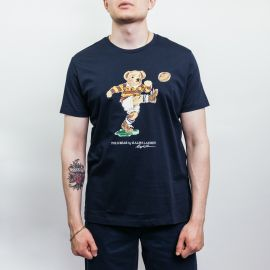 Ralph Lauren Polo Classic Football Bear Navy Tee