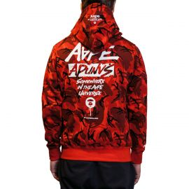 Aape by A Bathing Ape Худи AAPE BY A BATHING APE® Red Camo красный