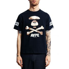 Aape by A Bathing Ape Футболка черная Camo Bones