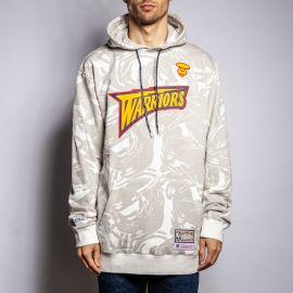 Aape by A Bathing Ape Толстовка AAPE X Mitchell&Ness NBA WARRIORS HOODIE