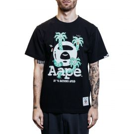 Aape by A Bathing Ape Футболка Aape by A Bathing Ape x Steven Harrington Palm черная