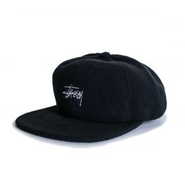 Stussy Кепка STUSSY SMOOTH STOCK POLAR FLEECE CAP черная